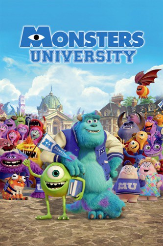 Monsters University 2013 movie poster