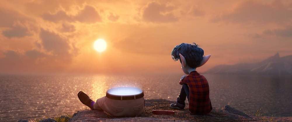 Onward Ian Lightfoot and his dad sunset