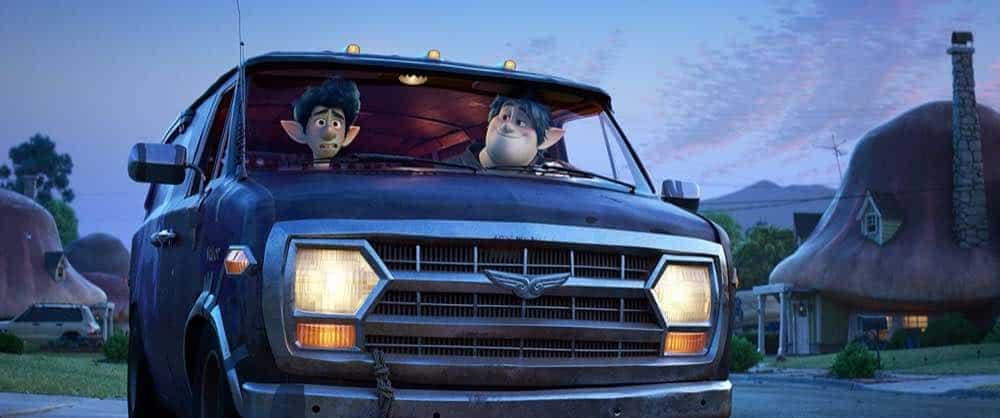 Onward Ian and Barley Lightfoot in their van front seats