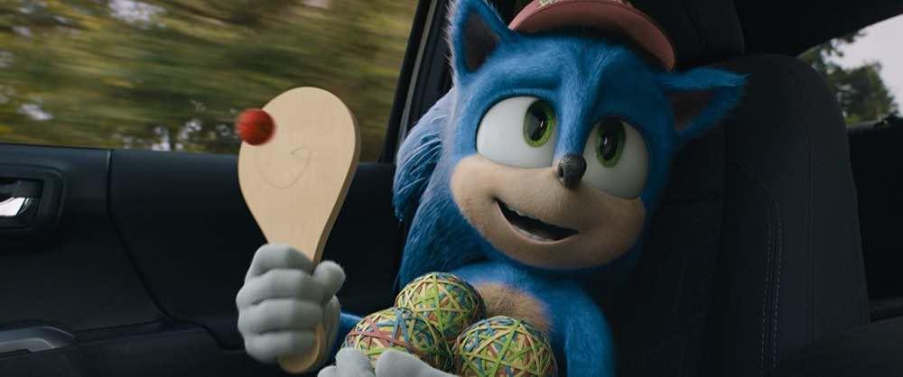 Sonic the Hedgehog Sonic riding shotgun