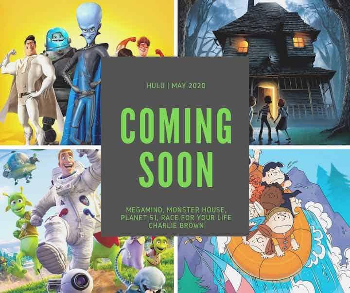 Hulu animated movies releasing in May 2020