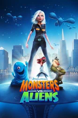 Monsters VS Aliens 2009 movie poster