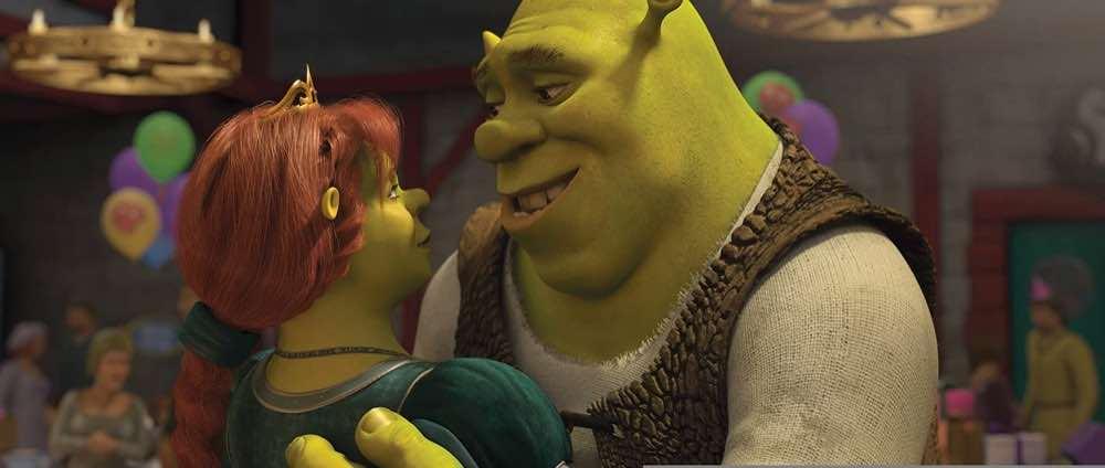 Shrek Forever After Shrek and Fiona dancing