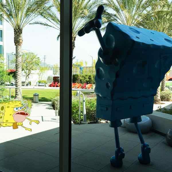 spongebob at Nickelodeon studios