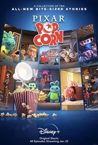 Pixar Pop Corn Movie Poster