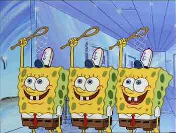 SpongeBob Future SB129 3 SpongeBobs