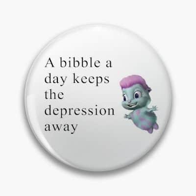 Bibble pin quote meme