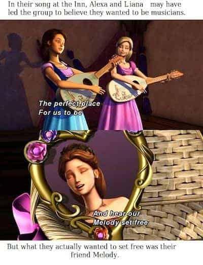 Barbie Alexa and Liana singing meme