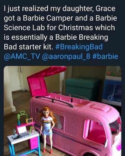 Barbie Breaking Bad starter kit meme