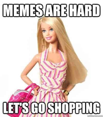 Barbie let's go shopping meme