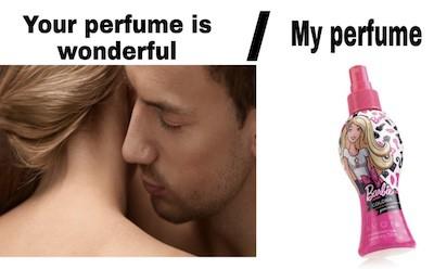 Barbie perfume meme