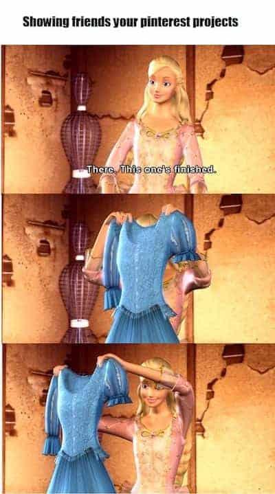 Barbie projects meme