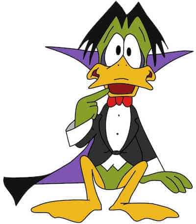 Count Duckula with cape