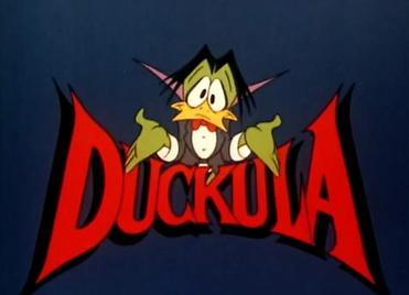 Count Duckula tv series logo art
