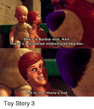 Ken defends Barbie meme