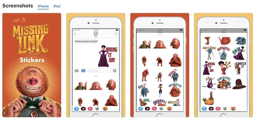 Laika Missing Link Sticker for iPhone