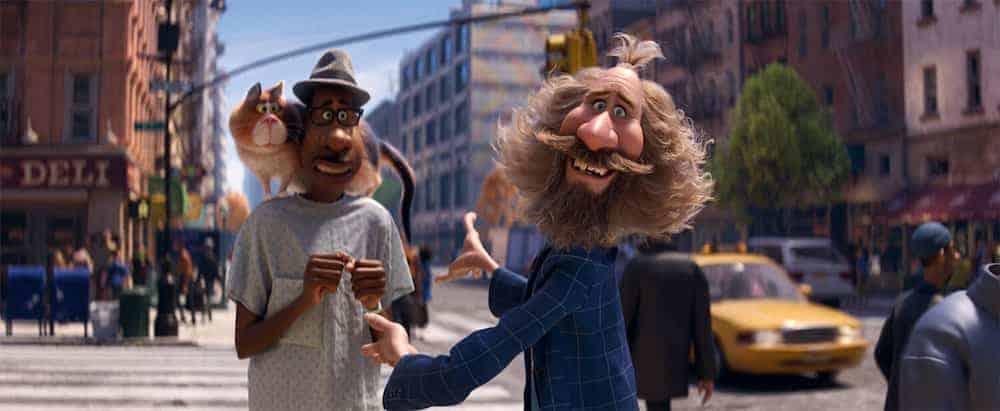 Soul Moonwind Joe and Mr. Mittens near a crosswalk