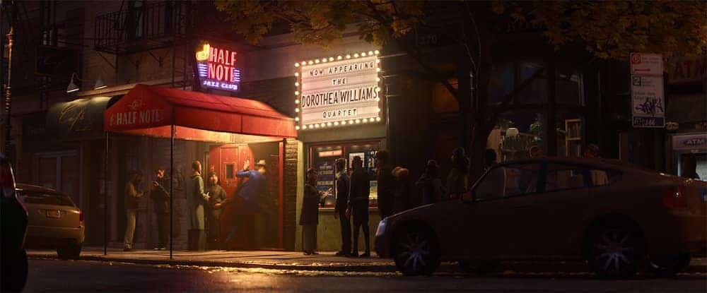 Soul Pixar movie Half Note Entrance