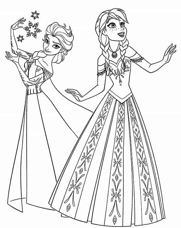 Anna and Elsa Dancing