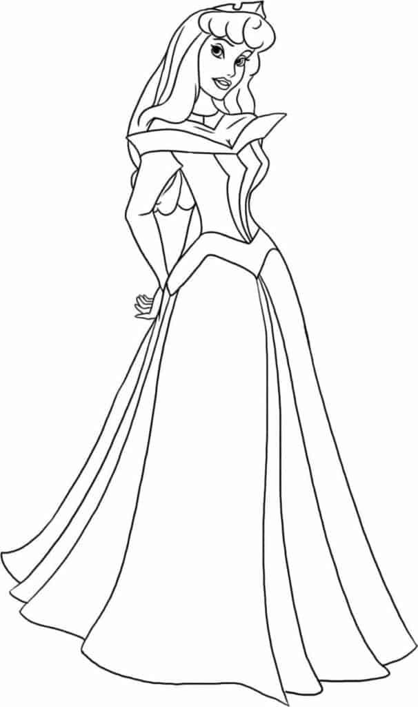 Aurora Disney Princess Sleeping Beauty coloring page
