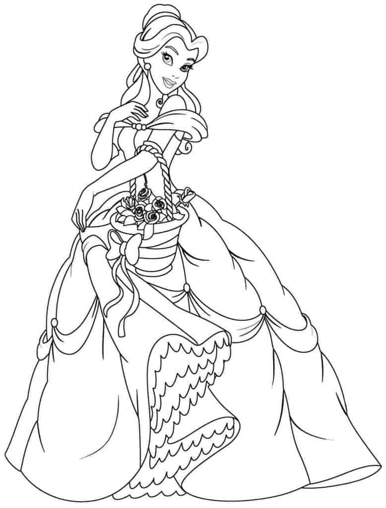 Belle Disney Princess coloring page