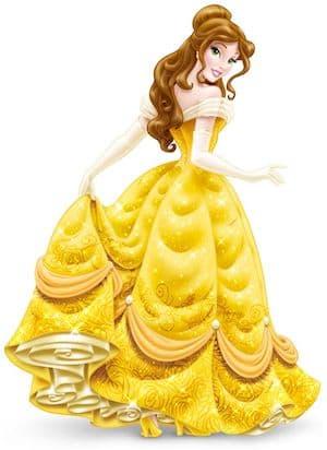 Belle Disney Princess full figure yellow dress