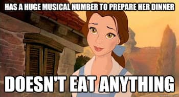 Belle meme does not eat after her song