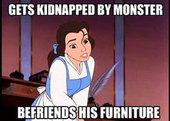Belle meme makes friends with furniture