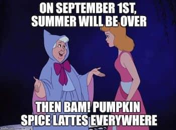 Cinderella meme pumpkin spice lattes