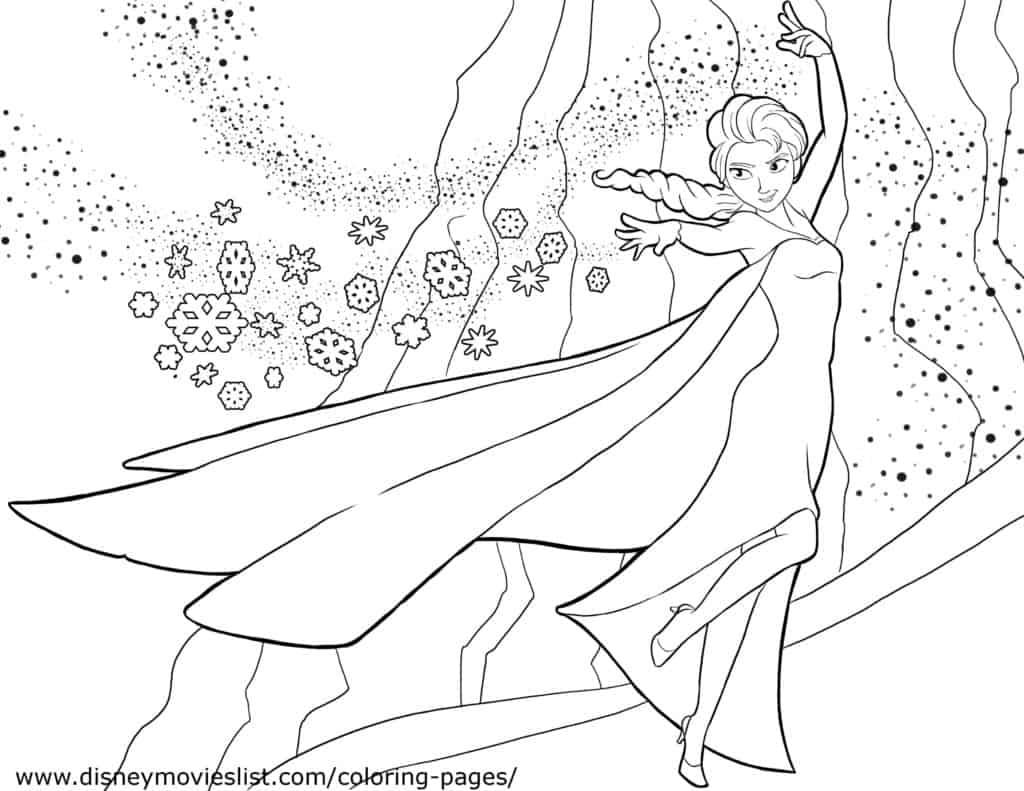 Elsa Let It Go Coloring Page 3