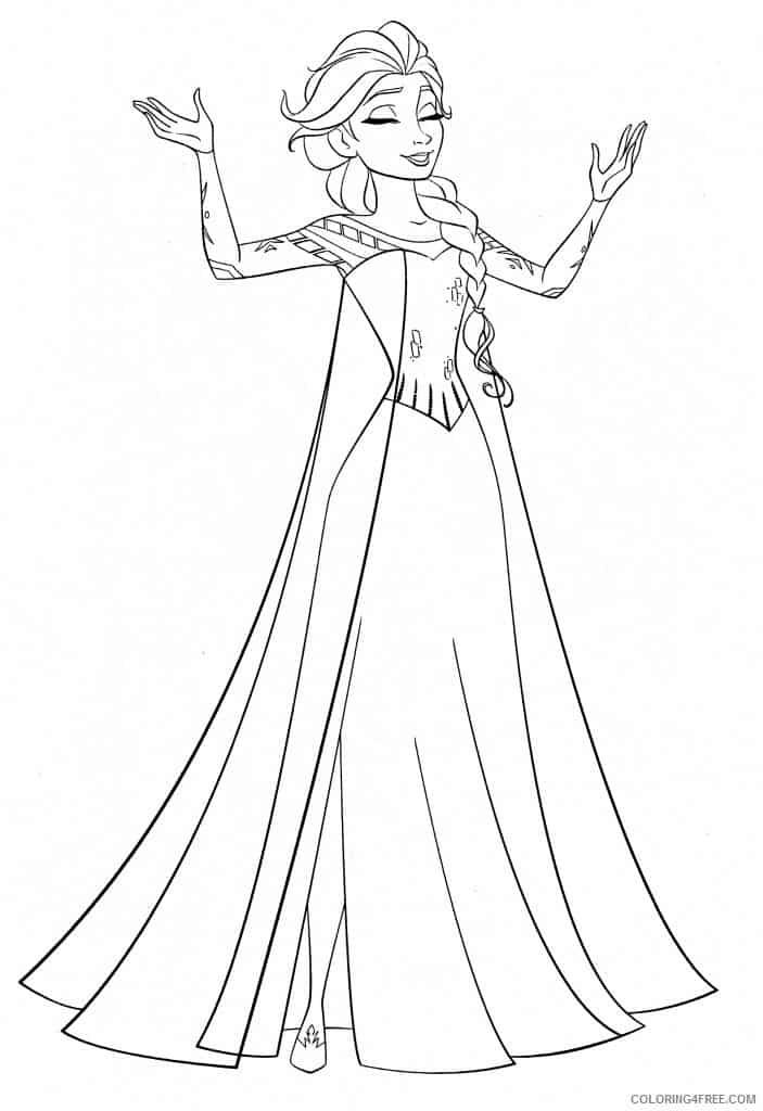 Elsa Let It Go coloring page
