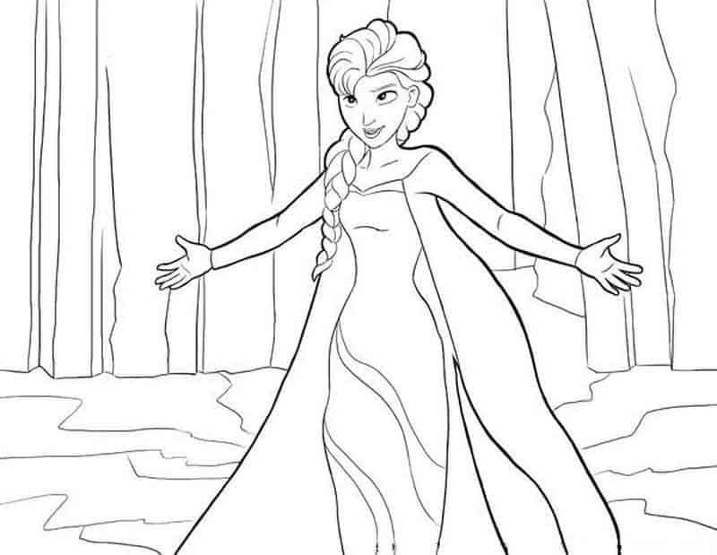 Elsa Let It Go coloring pages 4