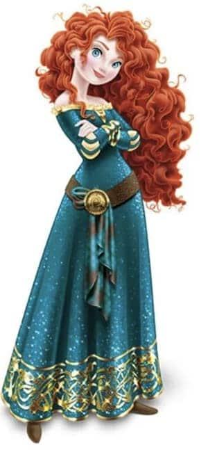 Merida Pixar Disney Princess full figure green dress