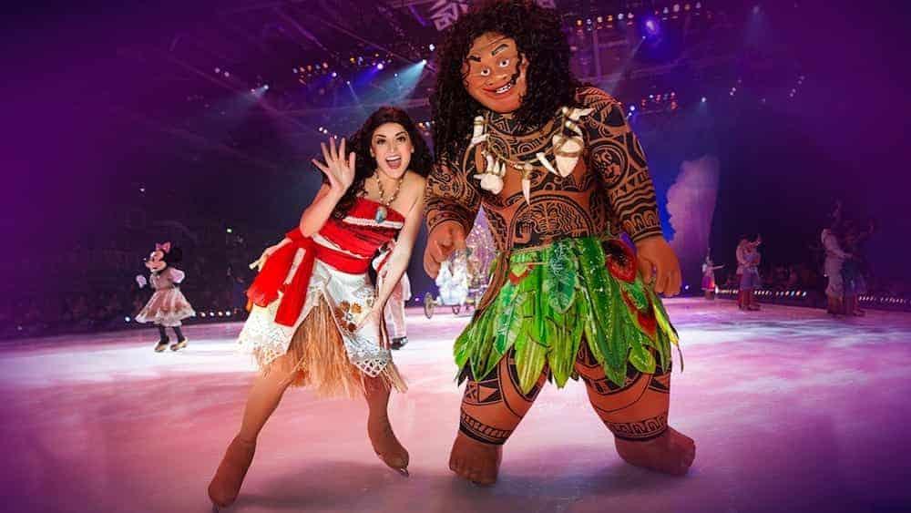 Moana and Maui Disney on Ice