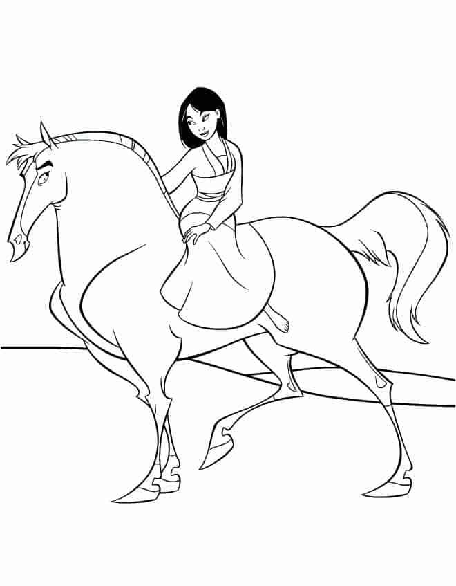 Mulan Disney Princess Riding a Horse