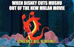 Mulan meme Mushu left out of the remake