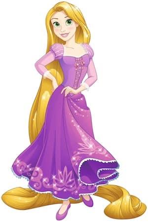 Rapunzel Disney Princess full figure purple dress and long hair