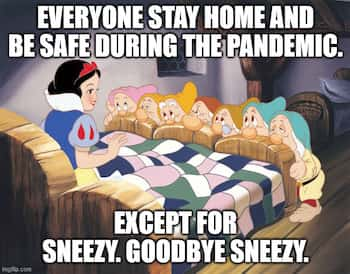 Snow White meme about the pandemic