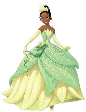 Tiana Disney Princess full figure green and yellow dress